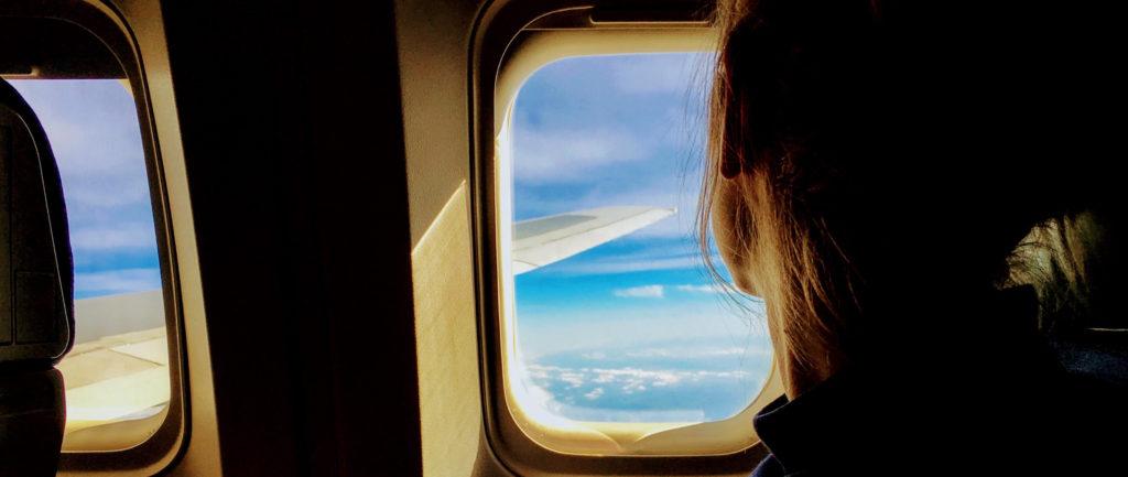 okno w samolocie