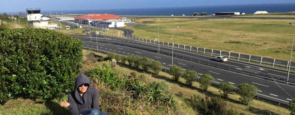 obserwowanie lotniska na Azorach
