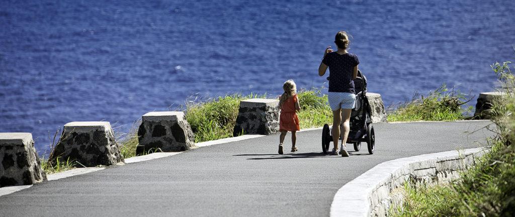 rodzinny spacer na Hawajach